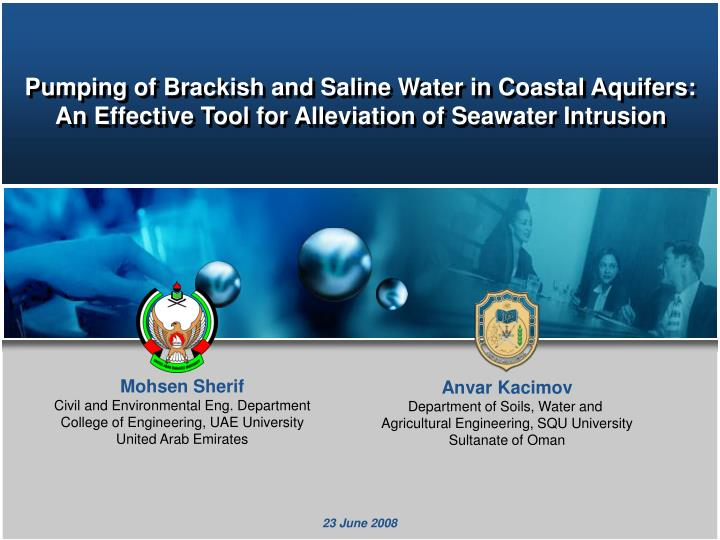 Pumping of Brackish and Saline Water in Coastal Aquifers: An Effective Tool for Alleviation of Seawater Intrusion