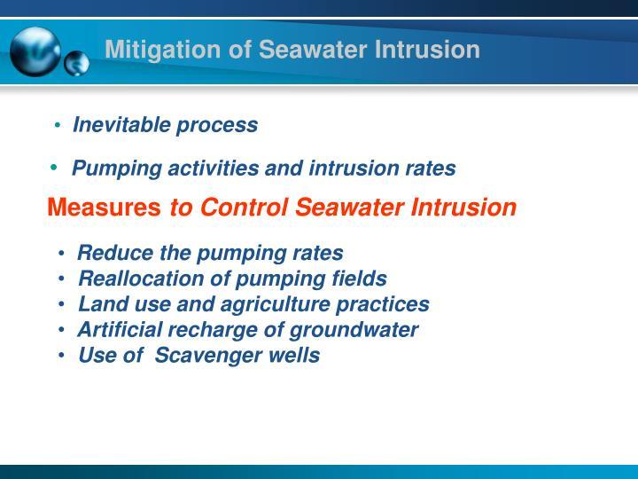 Mitigation of Seawater Intrusion