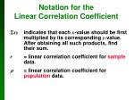notation for the linear correlation coefficient1