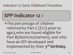 indicator 12 early childhood transition