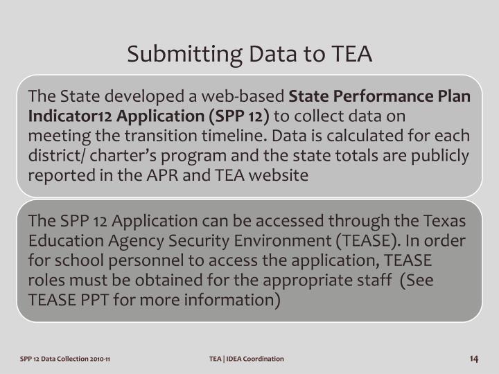 Submitting Data to TEA