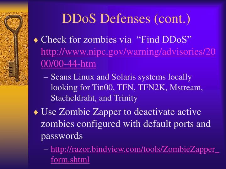 DDoS Defenses (cont.)