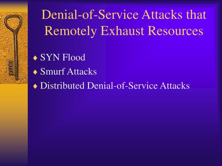 Denial-of-Service Attacks that