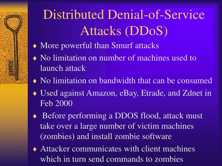 Distributed Denial-of-Service Attacks (DDoS)