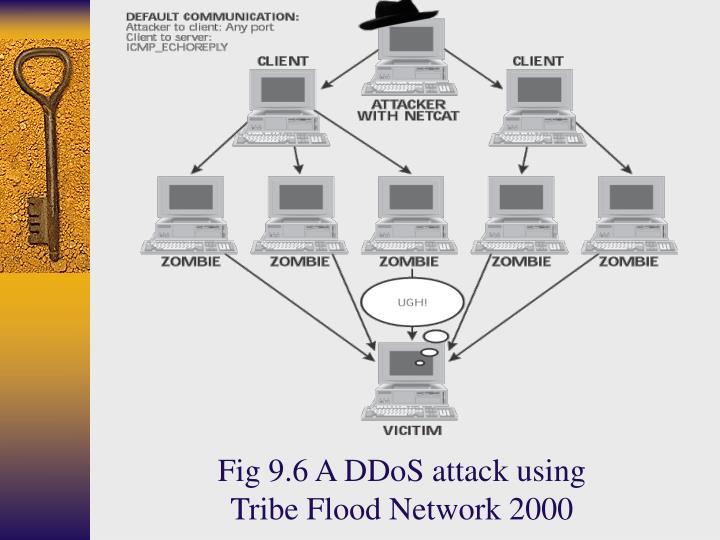 Fig 9.6 A DDoS attack using