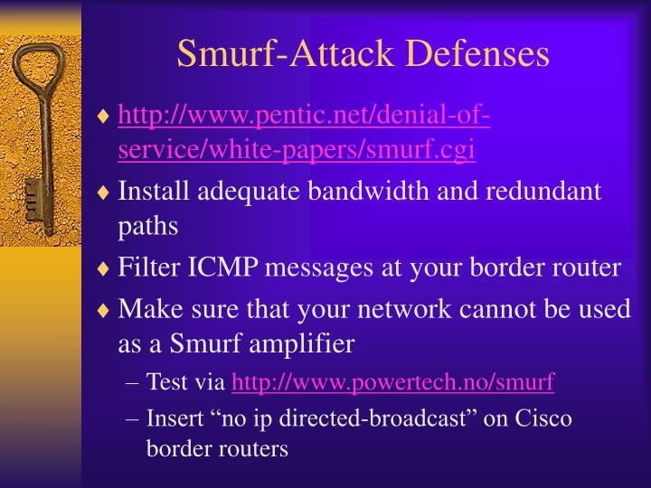 Smurf-Attack Defenses