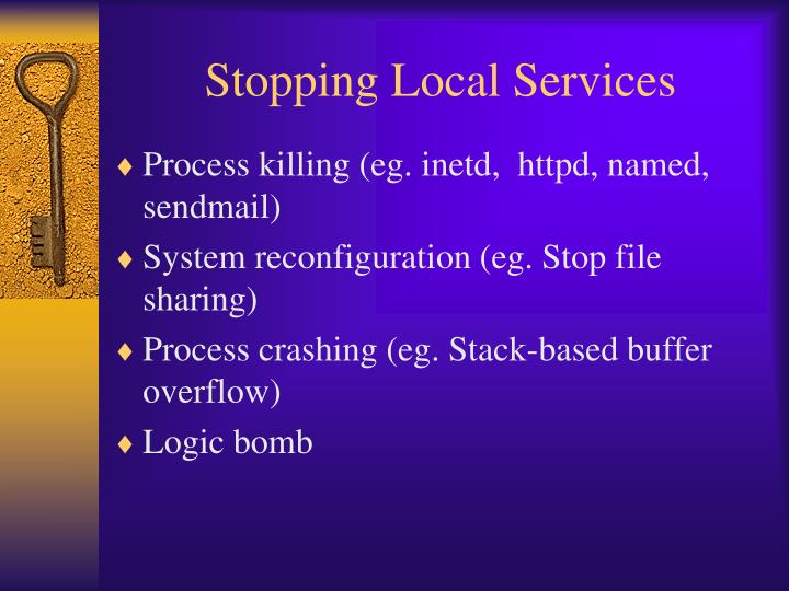 Stopping Local Services