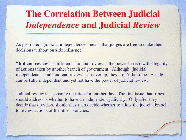 The Correlation Between Judicial