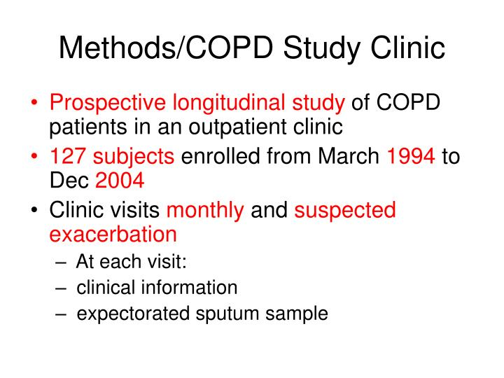 Methods/COPD