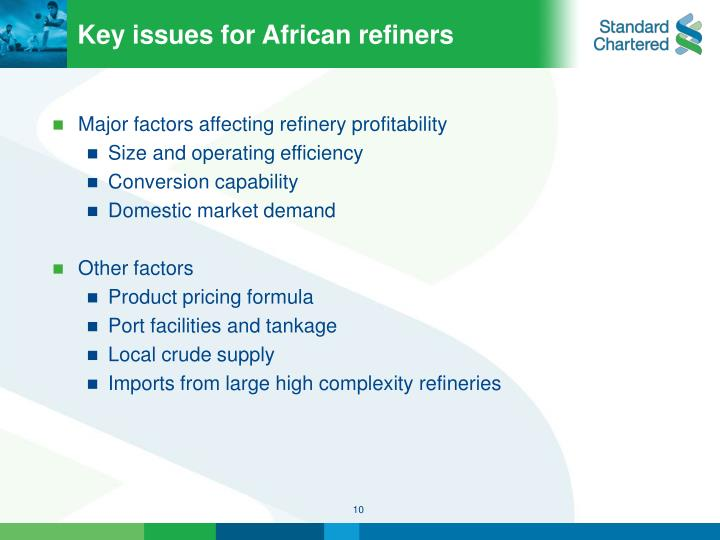 Key issues for African refiners