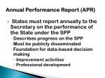 annual performance report apr