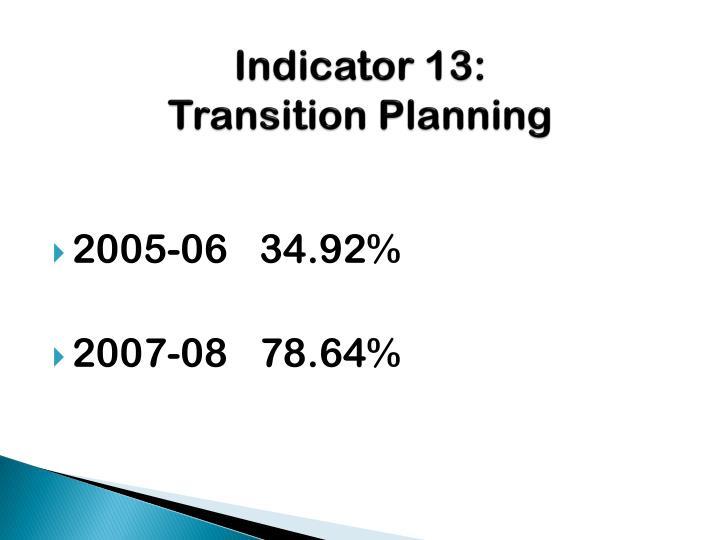 Indicator 13: