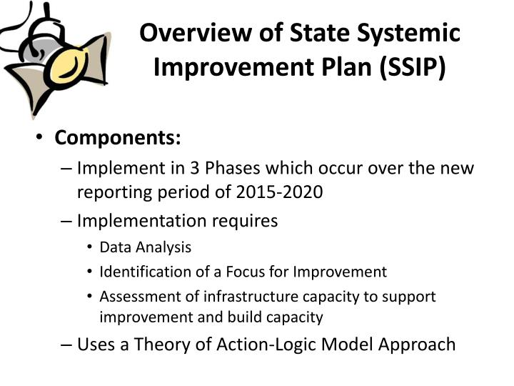 Overview of State Systemic Improvement Plan (SSIP)