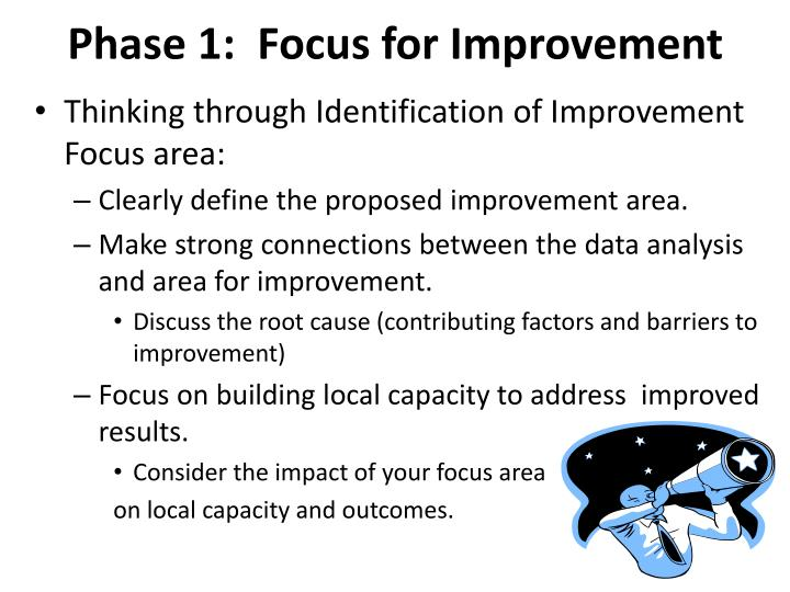 Phase 1:  Focus for Improvement