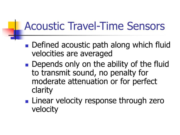 Acoustic Travel-Time Sensors