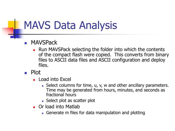 MAVS Data Analysis