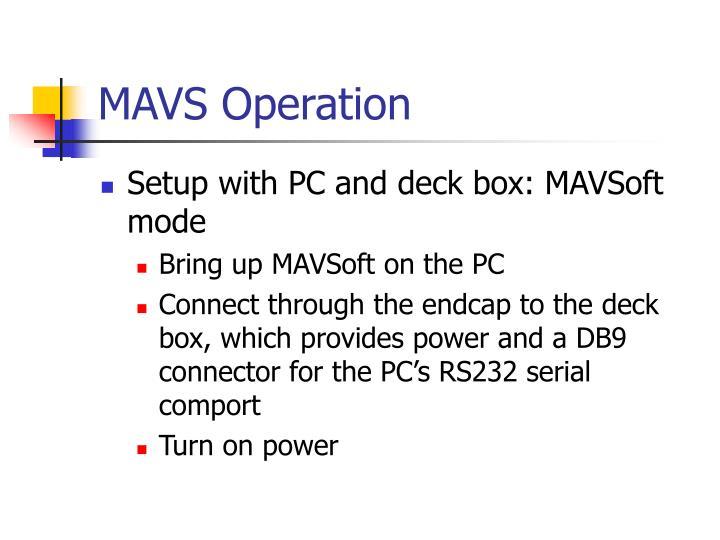 MAVS Operation