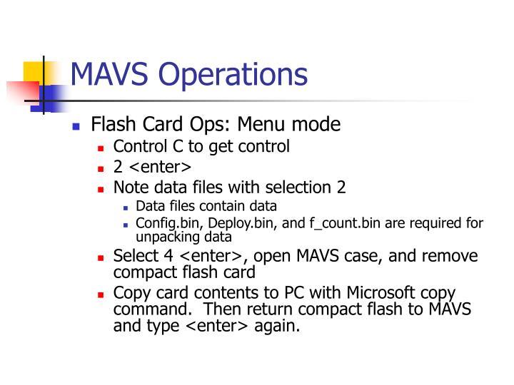 MAVS Operations