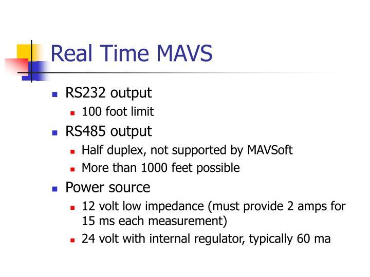 Real Time MAVS