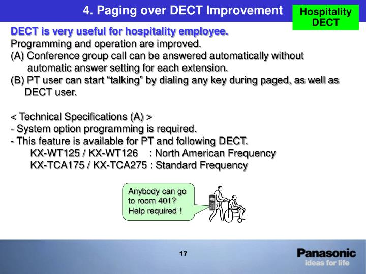 4. Paging over DECT Improvement