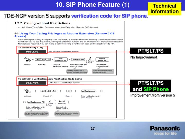 10. SIP Phone Feature (1)