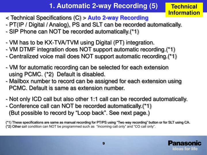 1. Automatic 2-way Recording (5)