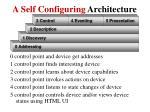 a self configuring architecture