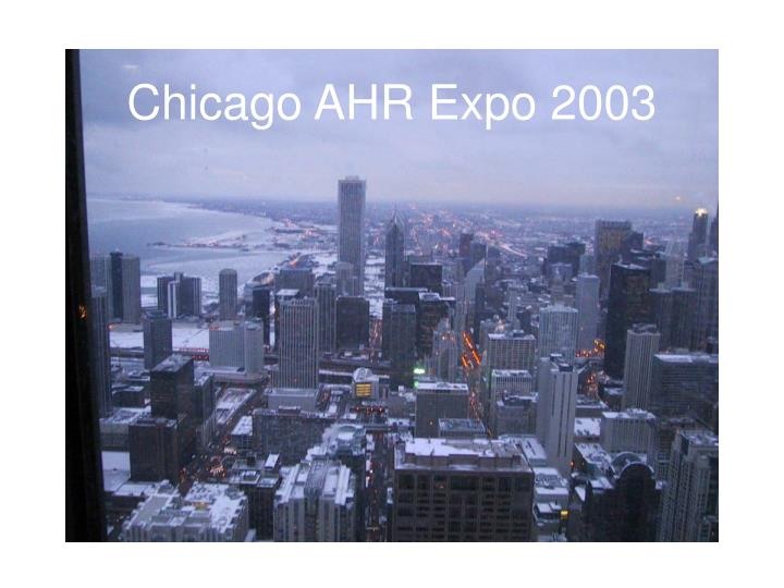 Chicago ahr expo 2003