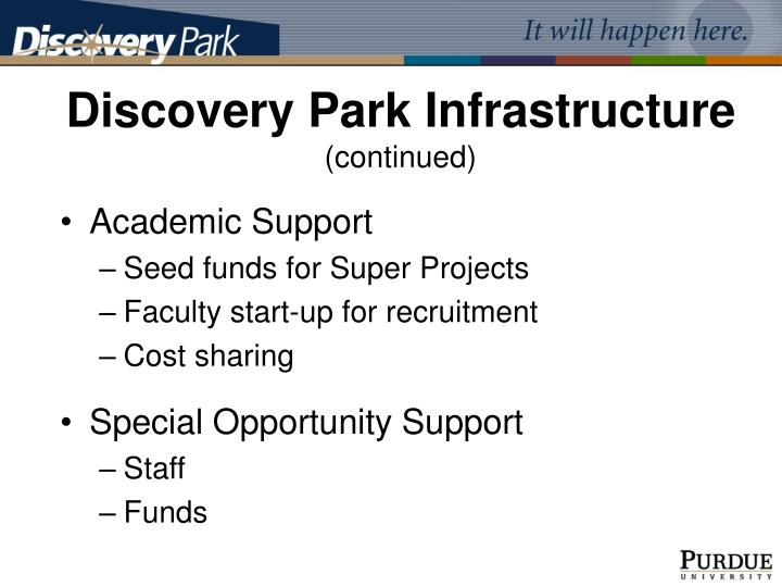 Discovery Park Infrastructure