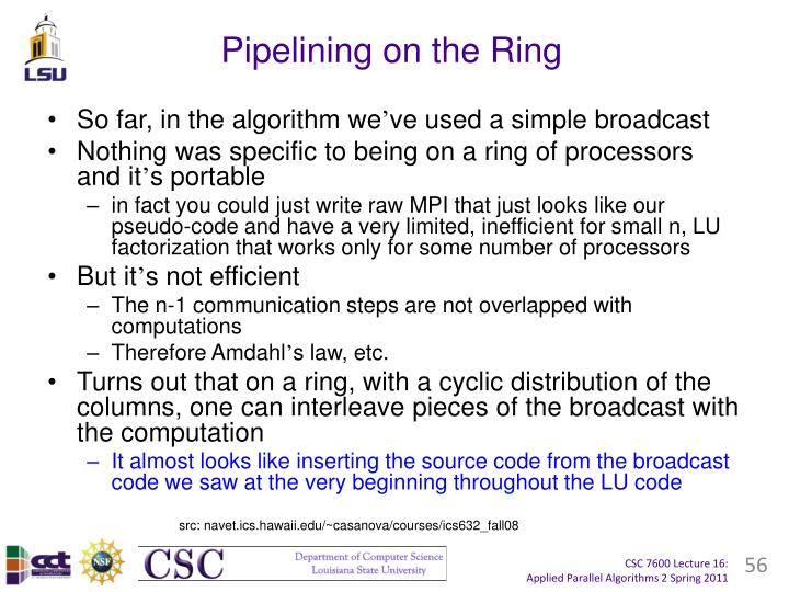 Pipelining on the Ring