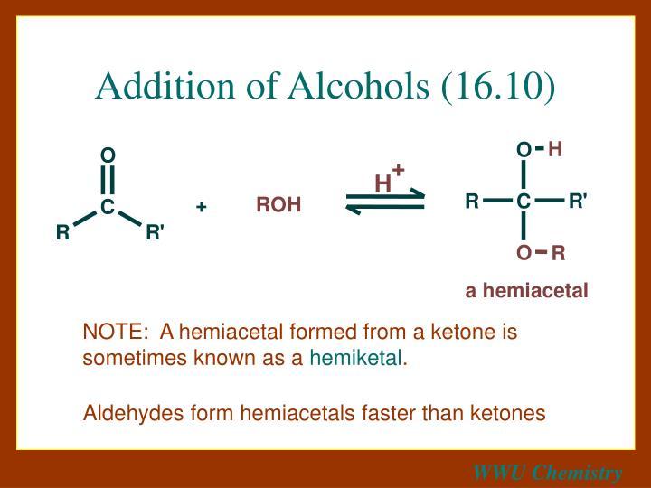 Addition of Alcohols (16.10)