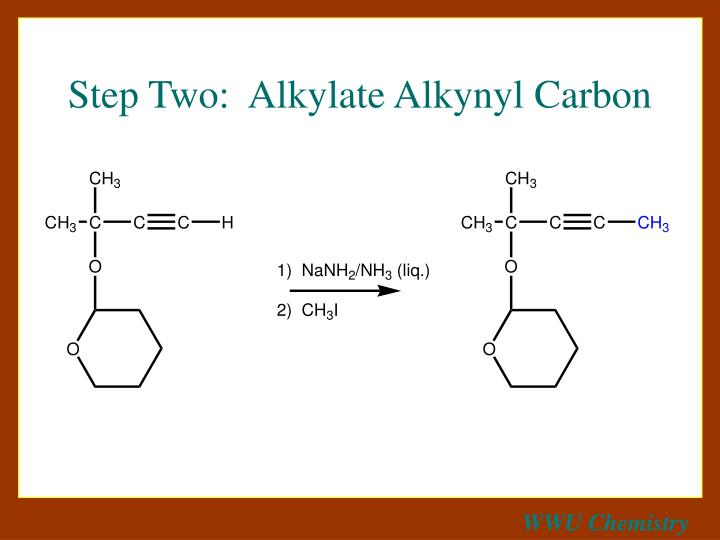 Step Two:  Alkylate Alkynyl Carbon