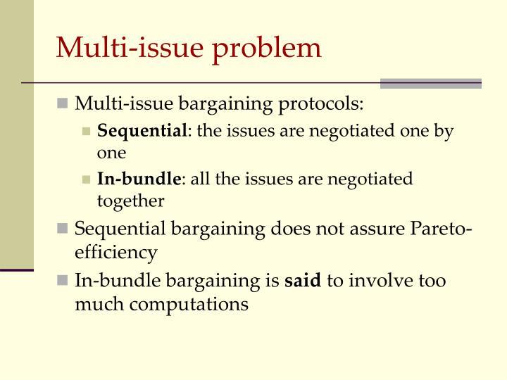 Multi-issue problem