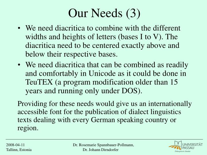 Our Needs (3)