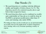 our needs 3