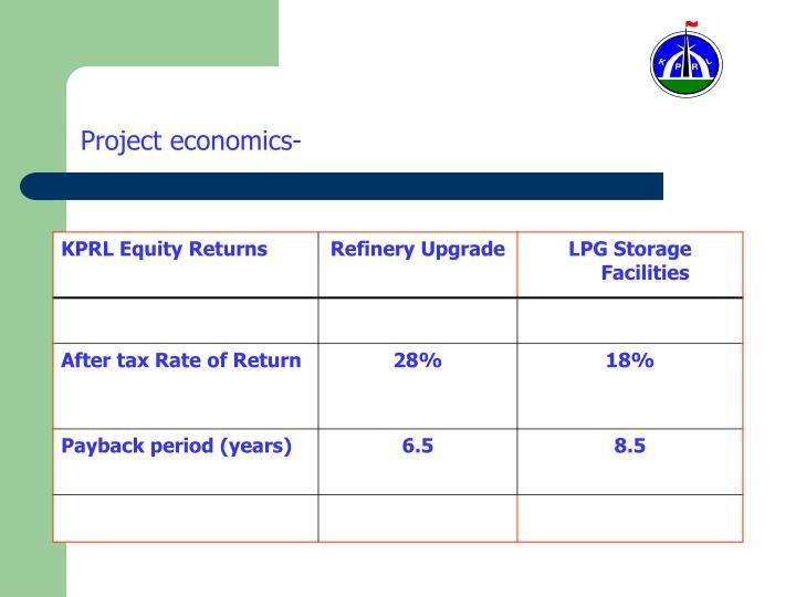 Project economics-