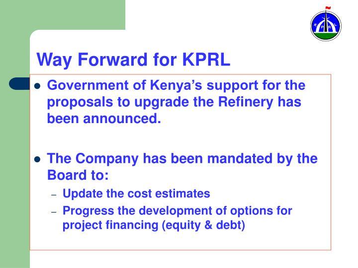 Way Forward for KPRL