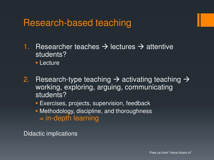 Research-based teaching