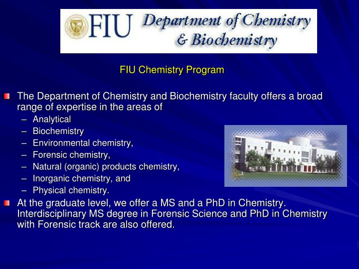 FIU Chemistry Program
