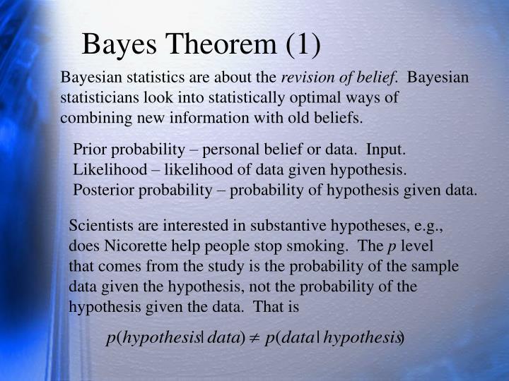 Bayes Theorem (1)