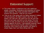elaborated support