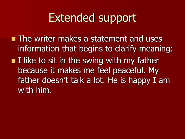 Extended support