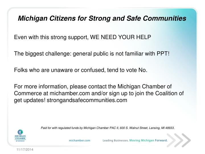 Michigan Citizens for Strong and Safe Communities