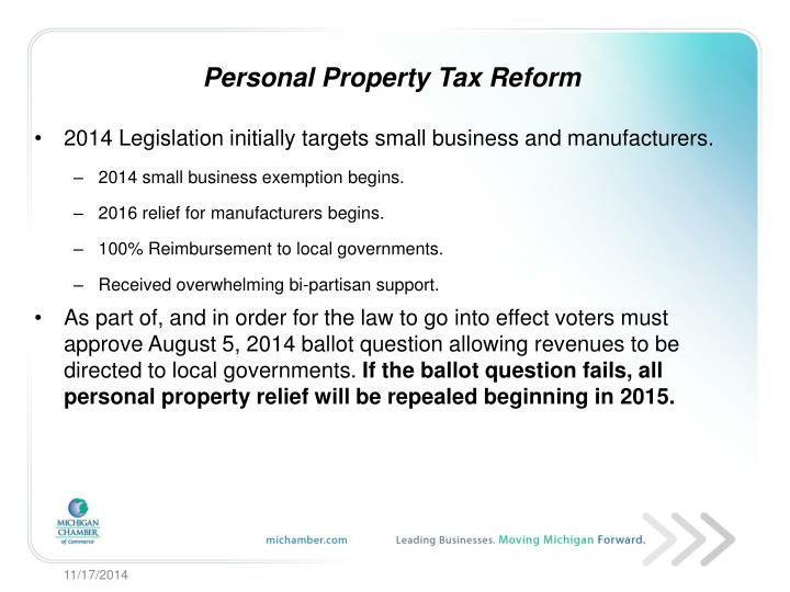 Personal Property Tax Reform