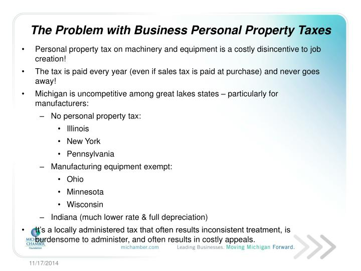 The problem with business personal property taxes
