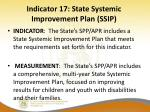 indicator 17 state systemic improvement plan ssip