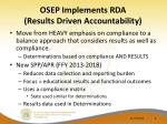 osep implements rda results driven accountability