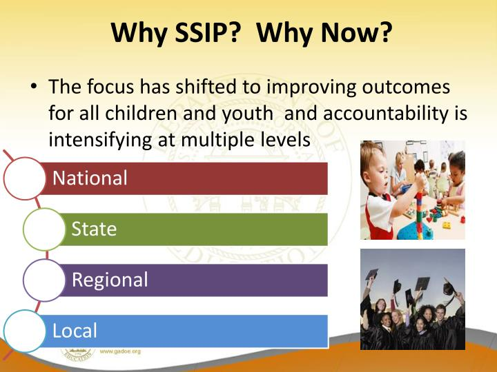 Why SSIP?  Why Now?