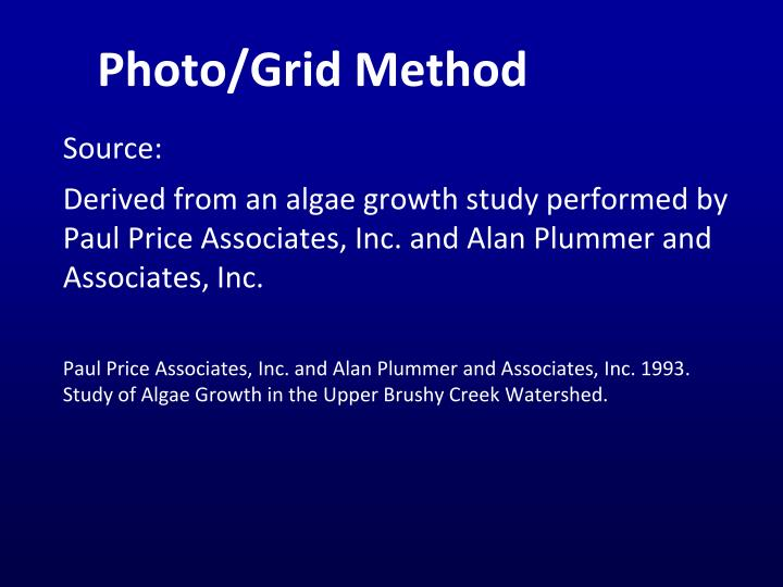 Photo/Grid Method