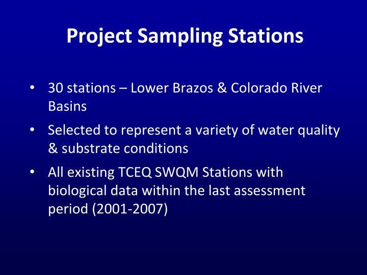 Project Sampling Stations